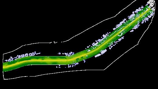 mapa hałasu - linia E7 bez ekr (D)