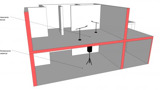 pomiary izolacyjności akustycznej stropu 3D